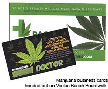 Medical marijuana and the venice boardwalk does god exist marapr12 business cards for a dispensary colourmoves